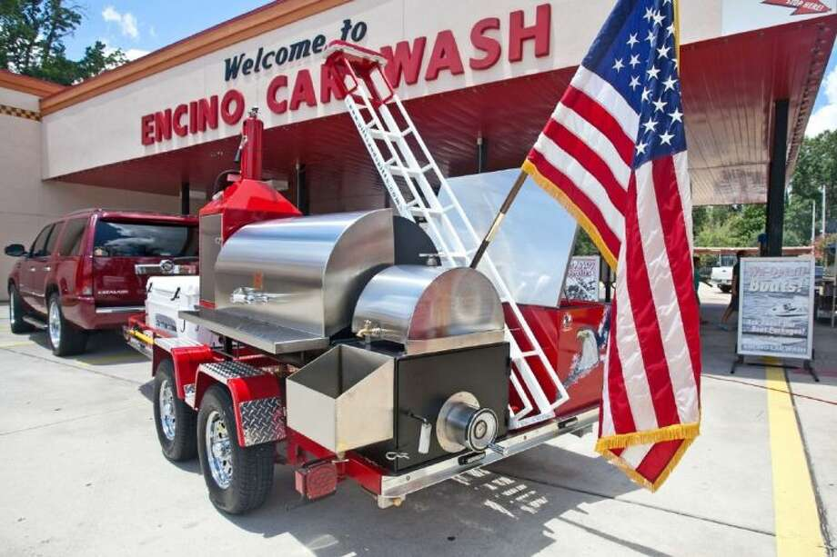 The barbecue pit is called the Four Fallen Heroes BBQ Trailer and is valued at approximately $22,000.