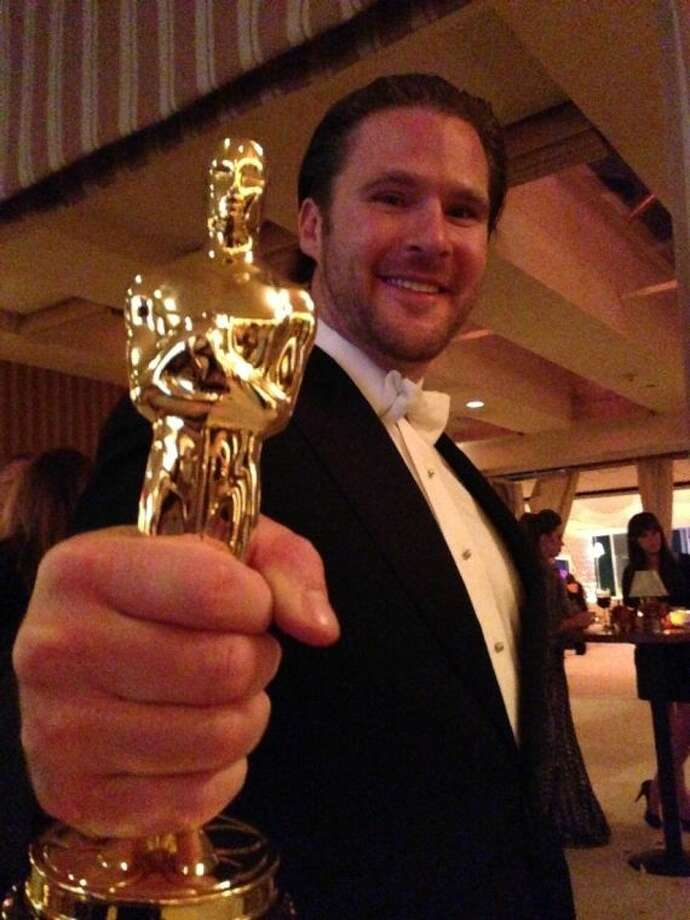 Film producer and Houston native Ryan A. Brooks, shortly after taking home the 2013 Academy Award.