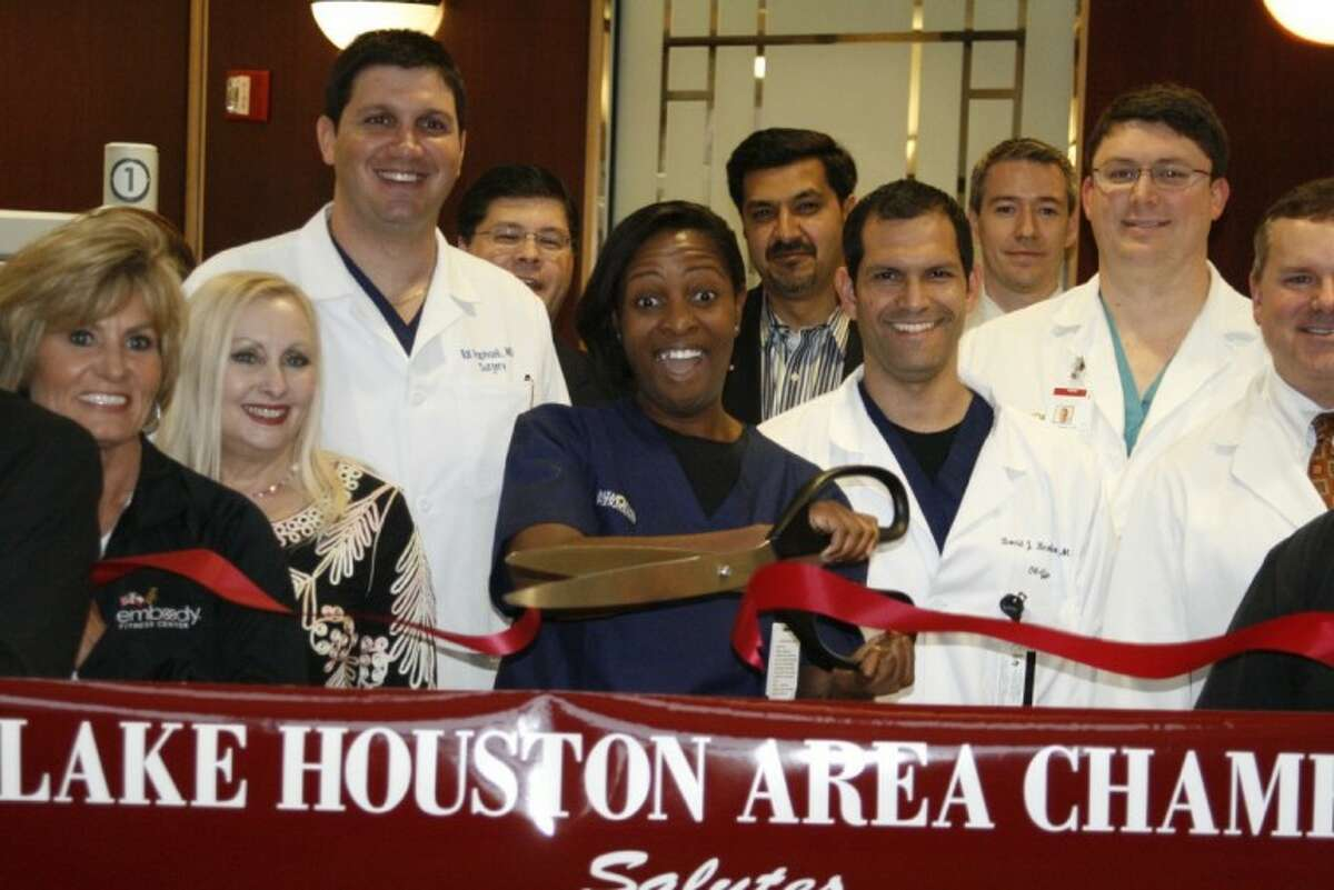 The Lake Houston Area Chamber of Commerce with the help of Memorial Hermann Northeast Hospital employees celebrated the arrival of the da Vinci Si Surgical System robot with a ribbon cutting ceremony Nov. 29.
