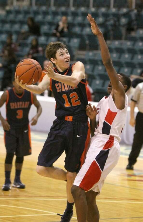 Former Seven Lakes guard Alec Colhoff transferred to LeTourneau University to play for former Spartans coach Dan Miller. Photo: HCN File Photo