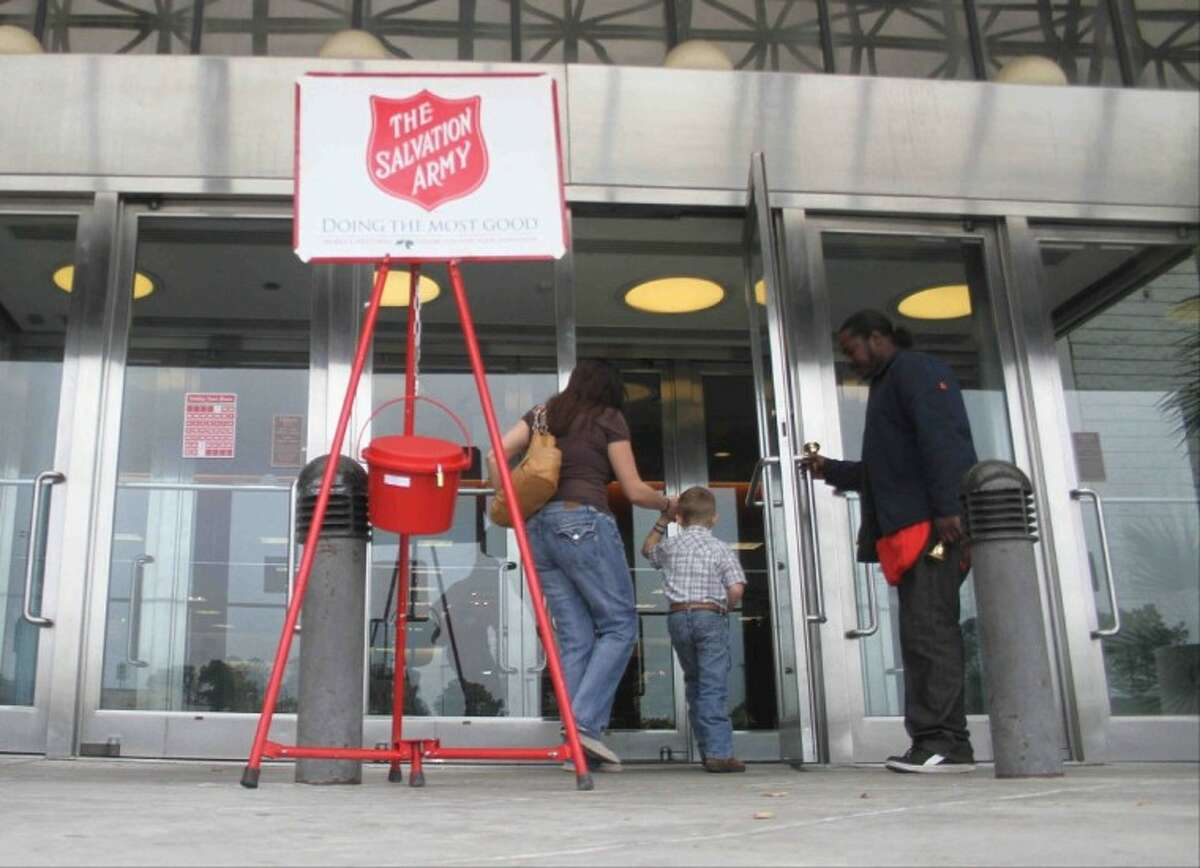 Police say an unknown suspect stole a Red Kettle from a Salvation Army bell ringer outside Dillard's at Deerbrook Mall.
