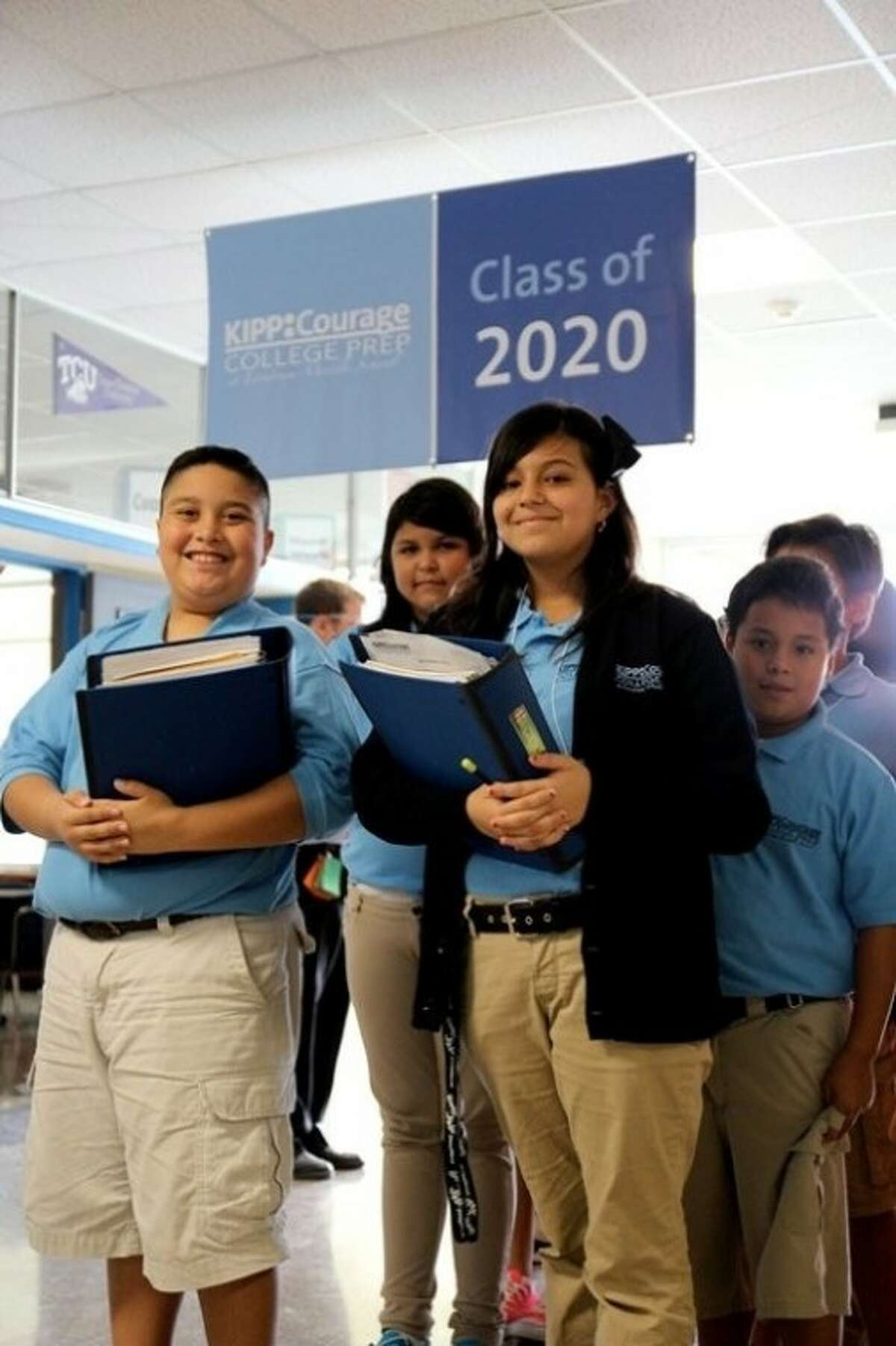 KIPP Courage students at Landrum Middle School in Spring Branch ISD.