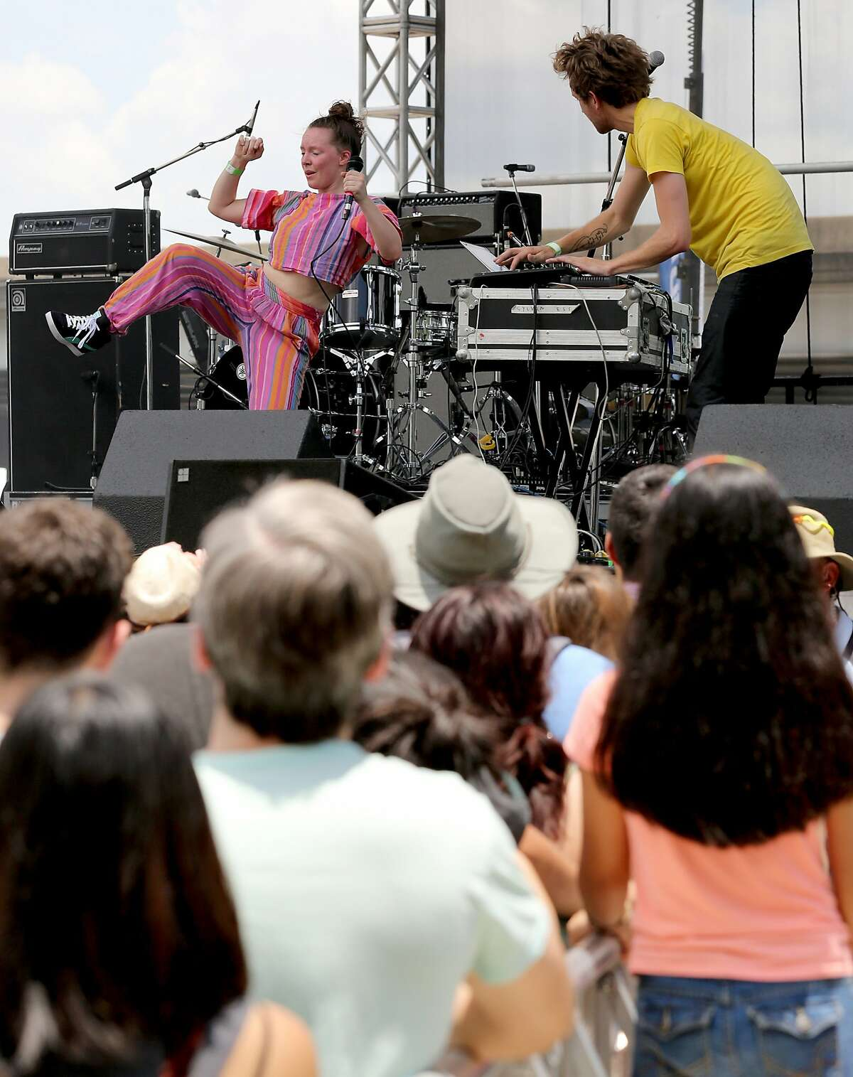 Sylvan Esso performs at the Summer Festival at Eleanor Tinsley Park in Houston in 2014.