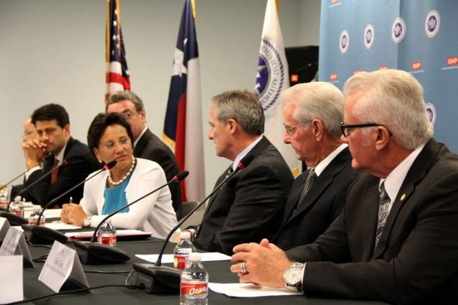 U.S. Secretary of Commerce Penny Pritzker met with Houston-area business leaders for a roundtable discussion hosted by the Houston Port Authority and the Greater Houston Partnership Thursday (August 29).