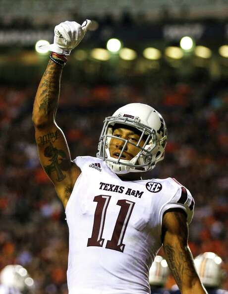 A&M's Josh Reynolds holds the school record for touchdown catches in a season with 13. Photo: Butch Dill, Stringer / 2016 Getty Images