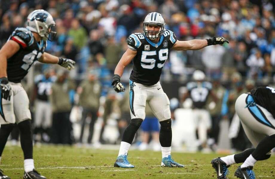 Carolina Panthers middle linebacker Luke Kuechly led the NFL with 153 tackles during the regular season.
