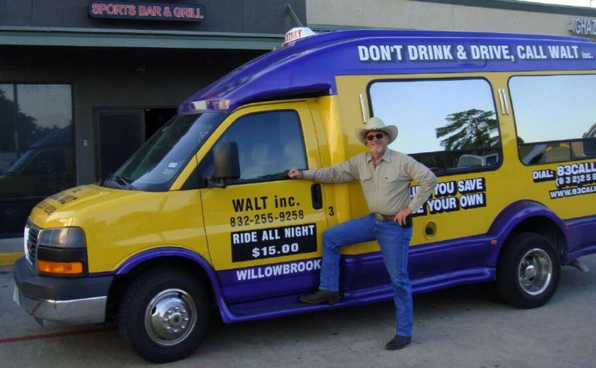 Walter Zanek is doing is part to cut down on drunk driving by offering an inexpensive shuttle service in north Harris County and south Montgomery County.