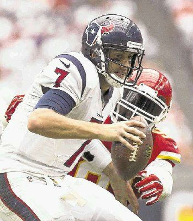 Texans quarterback Brian Hoyer returns to the lineup today against the Jacksonville Jaguars. Photo: Jason Fochtman