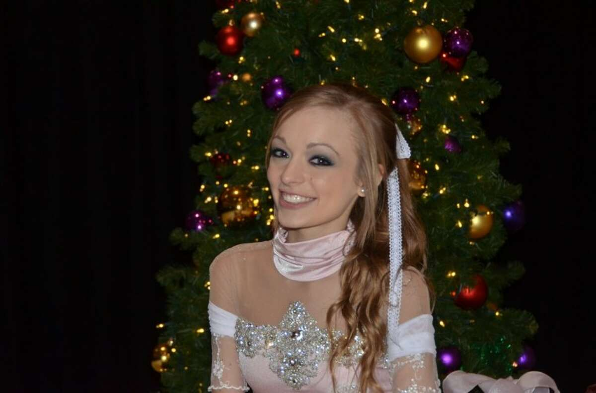 Taylor Rognon performed as Clara in the 2012 Nutcracker on Ice at Memorial City Mall.