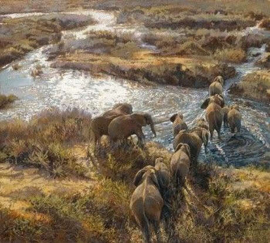 """The photo, """"Love, Life and Community,"""" is a painting by Vickie McMillen. The painting was selected as the cover for the 2016 Artists for Conservation calendar."""
