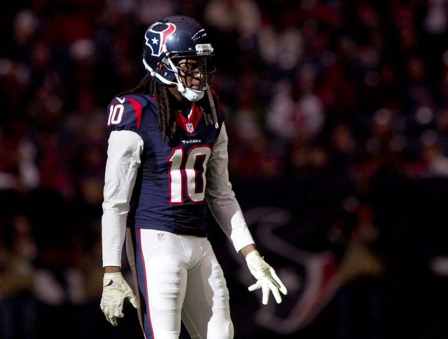 Houston Texans wide receiver DeAndre Hopkins has shined in the absence of former teammate Andre Johnson. Photo: Jason Fochtman