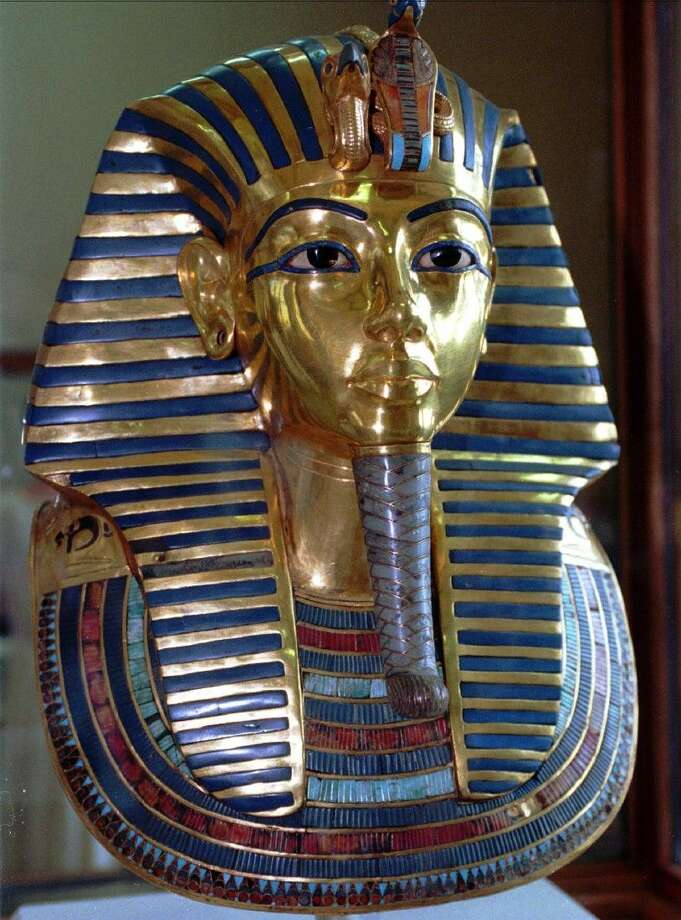 The mask of King Tutankhamun in July 1996 at the Egyptian Museum in Cairo.