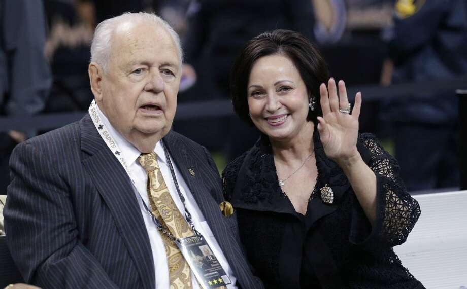 New Orleans Saints and Pelicans owner Tom Benson said his wife Gayle will inherit control of the two franchises. Photo: Bill Haber