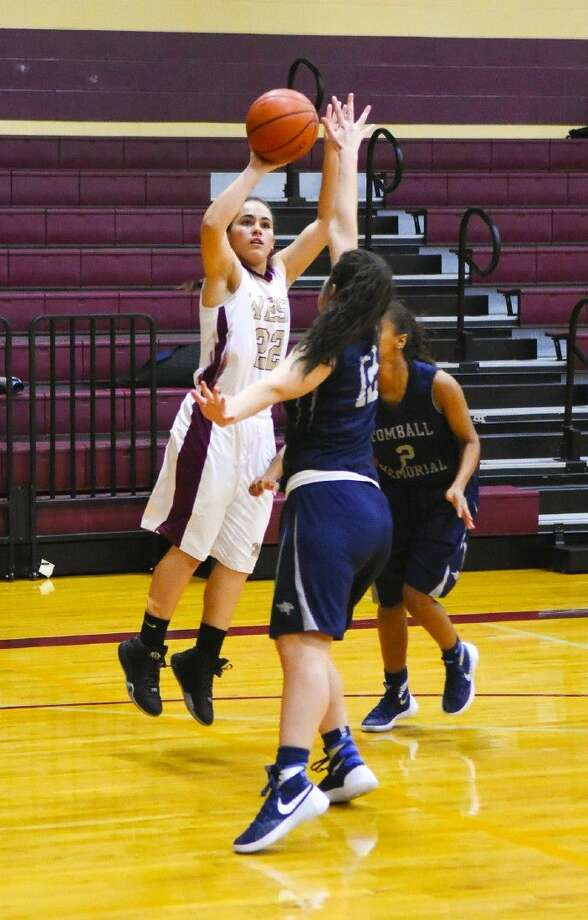 Magnolia West junior guard Lauren Martinez puts up a shot against Tomball Memorial this past Tuesday.
