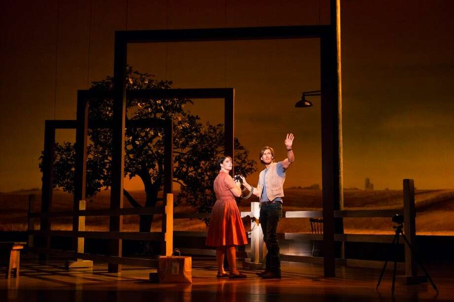 "Elizabeth Stanley (Francesca) and Andrew Samonsky (Robert) in the national tour of ""The Bridges of Madison County."" Theatre Under the Stars opens the musical version on Jan. 19 in Sarofim Hall at Houston's Hobby Center, where it continues through Jan. 31."