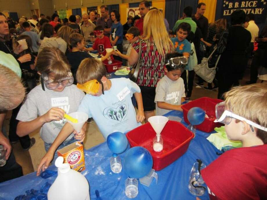 Students from each Conroe ISD elementary school participated in last year's Elementary Science Fair. This year, the Elementary Science Festival will be Saturday.