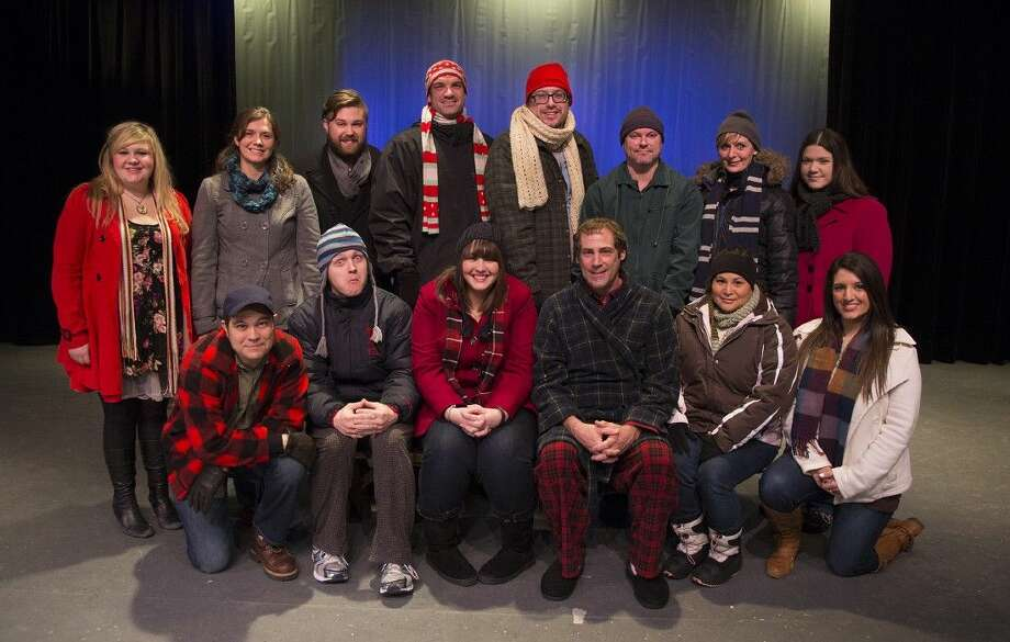 "The cast of ""Almost, Maine"" which is currently on stage at the Owen Theatre in downtown Conroe. The show continues through Feb. 15."