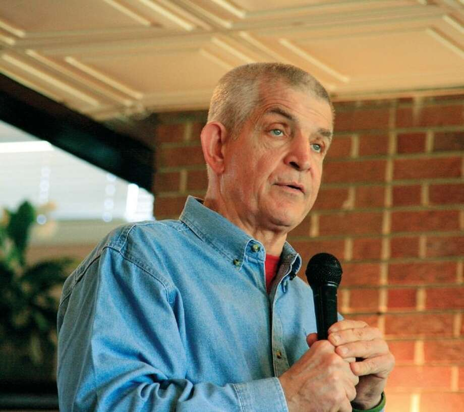 "In this Nov. 17, 2010 file photo, Jim ""Mattress Mack"" McInvale talked about overcoming adversity at a Lake Houston Area Chamber of Commerce luncheon. Photo: JENNIFER SUMMER"