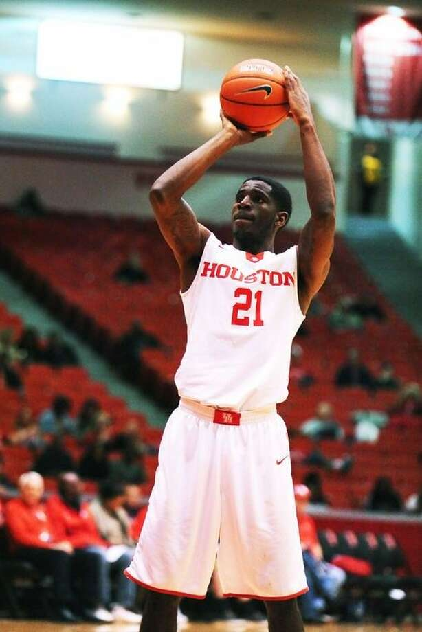 University of Houston junior guard Damyean Dotson scored 10 points against the University of Connecticut Huskies Sunday, January 17, 2016 at Hofheinz Pavilion in a 69-57 loss.