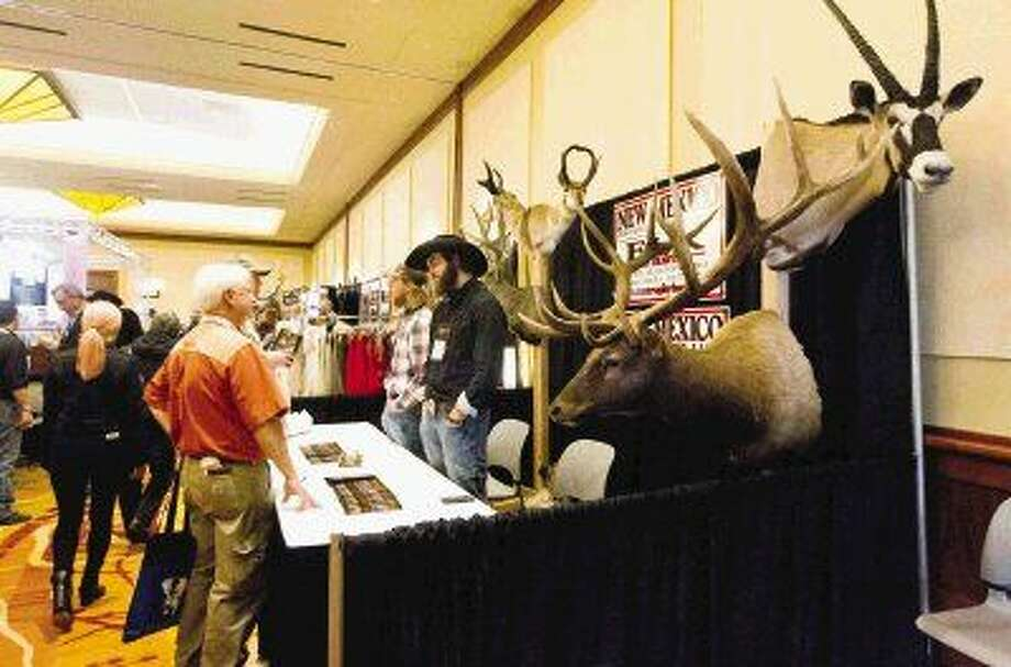 Vendors from around the county gathered at The Woodlands Waterway Marriott Hotel & Convention Center for the Houston Safari Club's annual convention Saturday. Photo: Jason Fochtman