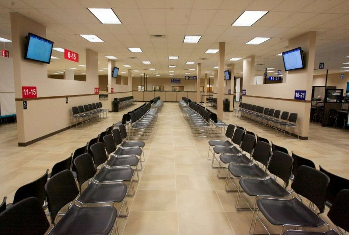 The interior of the new Texas DPS Spring Drivers License Mega Center at 4740 Spring Cypress Road.