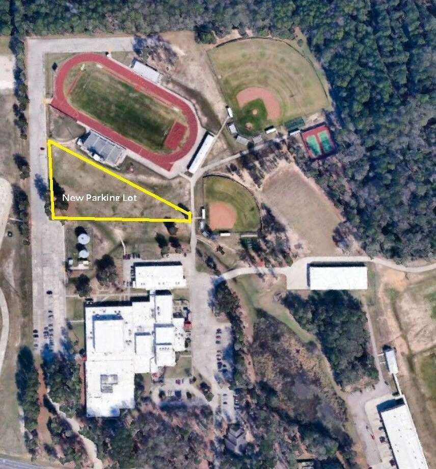 Shown here is the area where a new parking lot will go to serve the baseball, football and softball stadiums at Splendora High School.