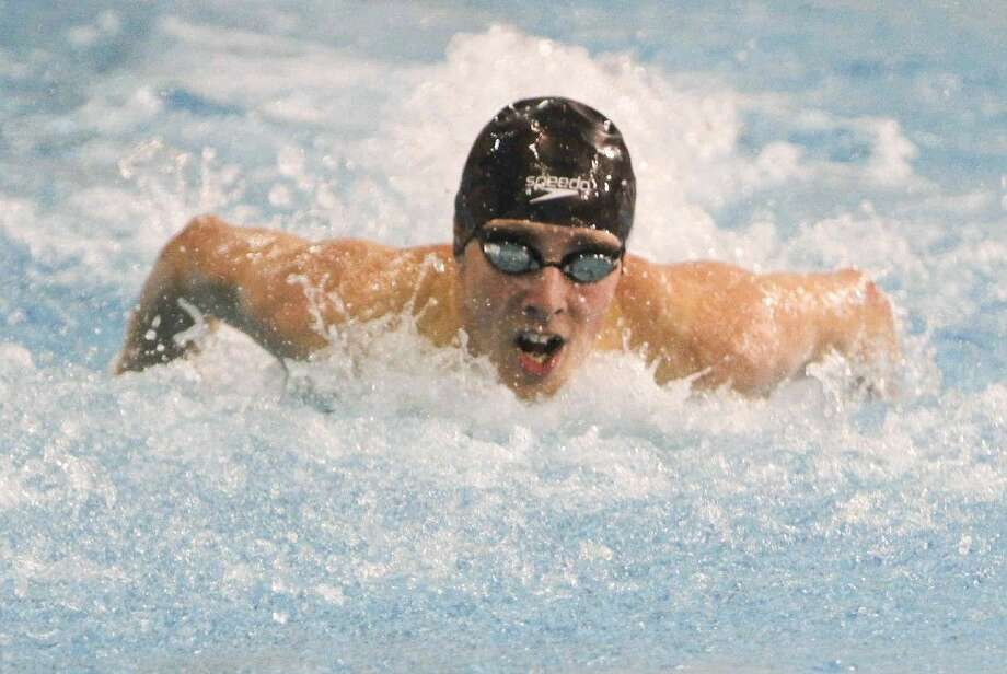 Kingwood's David Morejon finished 11th in the Class 5A finals of the boys 100-yard butterfly during the UIL State Swimming and Diving Meet at the Lee and Joe Jamail Texas Swim Center on Feb. 23, in Austin. Photo: Jason Fochtman