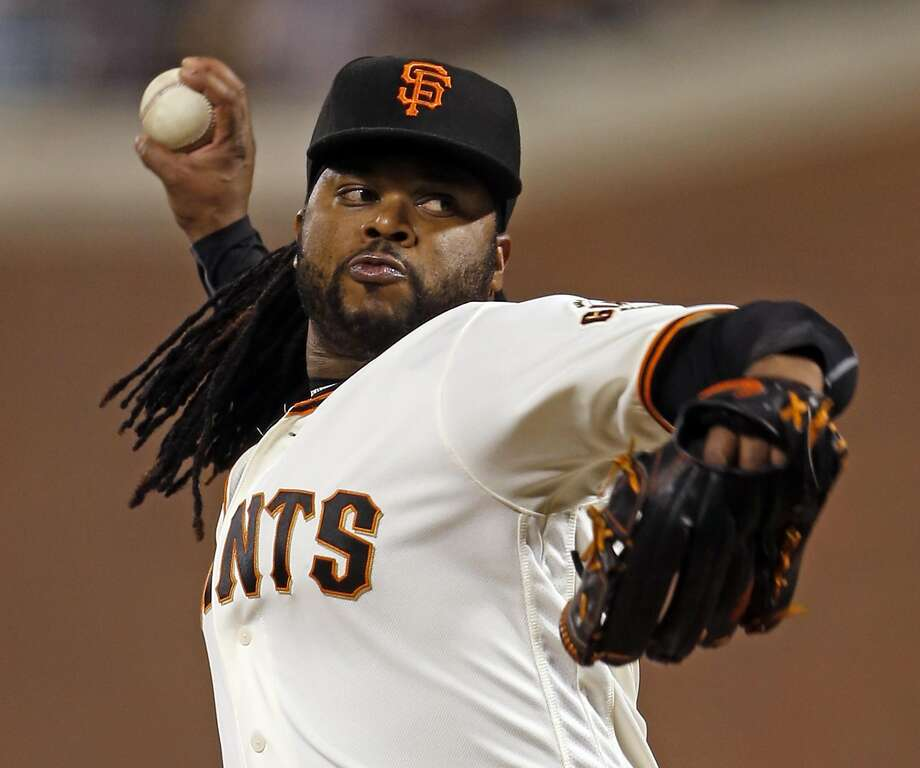 San Francisco Giants' starting pitcher Johnny Cueto delivers in 1st inning against Colorado Rockies during MLB game at AT&T Park in San Francisco, Calif., on Thursday, September 29, 2016. Photo: Scott Strazzante, The Chronicle