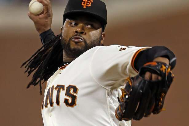 San Francisco Giants' starting pitcher Johnny Cueto delivers in 1st inning against Colorado Rockies during MLB game at AT&T Park in San Francisco, Calif., on Thursday, September 29, 2016.
