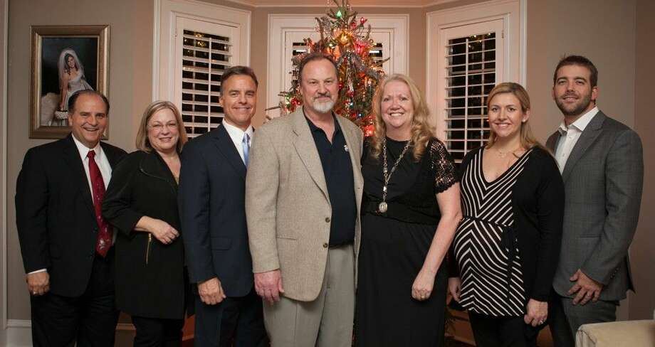 "The honorees for the upcoming Habitat for Humanity Montgomery County's 2015 Building Hope Gala, ""An Evening at Downtown Abbey"" are (l-r) Ron and Cyndi Brandt, Community Honorees; Steve Brown and Tom and Jean Gosse, representing St. Anthony of Padua Catholic Church, Faith-Based Honoree; and Megan and Cole Pate of Strike LLC, Corporate Honoree."
