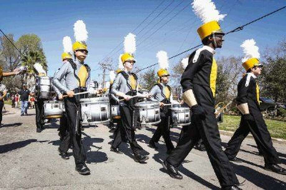 Members of the Conroe High School marching band perform during the 57th annual J-Mac Black History Month Parade on Saturday in Conroe. To view a photo gallery of the parade and awards ceremony, visit HCNPics.com. Photo: Michael Minasi