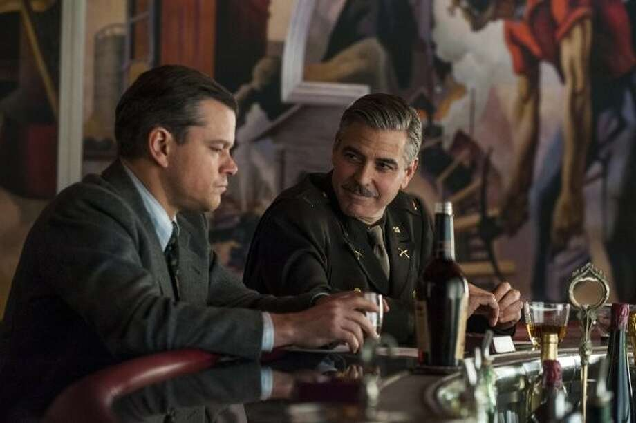 "Matt Damon and George Clooney in ""The Monuments Men."" Danny Minton says despite the notable cast, something is still missing from the project."