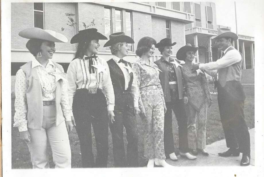 "Then president of the Montgomery County Trail Riders Association, Gladcell Cochran, deputizes women who will drum up support for the 1967 parade in the event. Parade officials would often ""arrest"" those who did not dress up well enough for the parade festivities. This year's parade is at 1 p.m. Saturday and starts at FM 2854 and Frazier Street in downtown Conroe."
