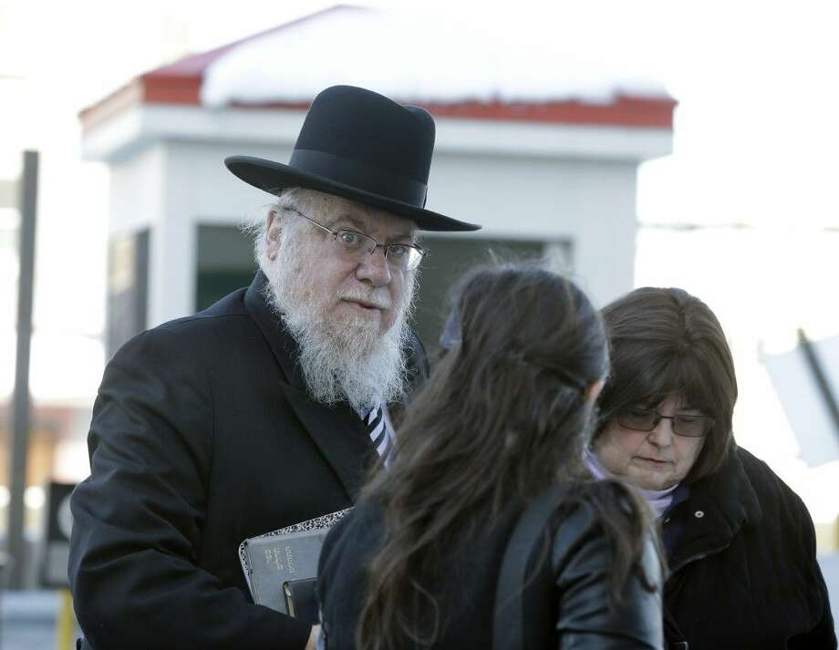 Rabbi Mendel Epstein arrives Wednesday at federal court in Trenton, N.J. Photo: Mel Evans
