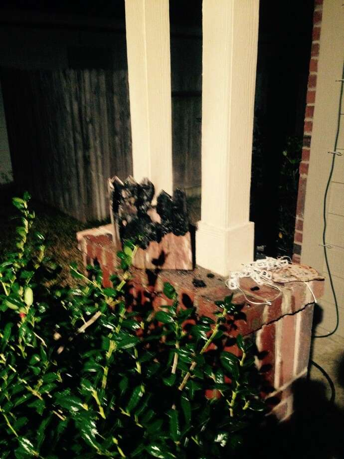The deputy examined the burned area and found a decorative wooden fixture that appeared to be where the fire originated and then spread to the pillars on the porch, which were left with only slight damage. There was no structural damage to the home. One of the residents later said she was smoking on the porch and believed her cigarette had been the source of the fire.