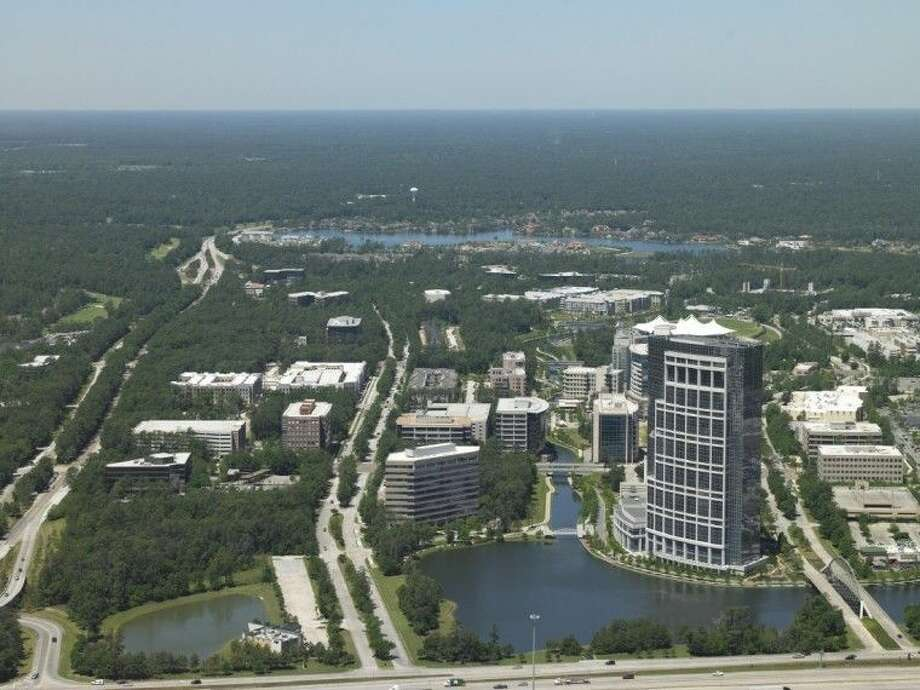 Aerial file photo of The Woodlands
