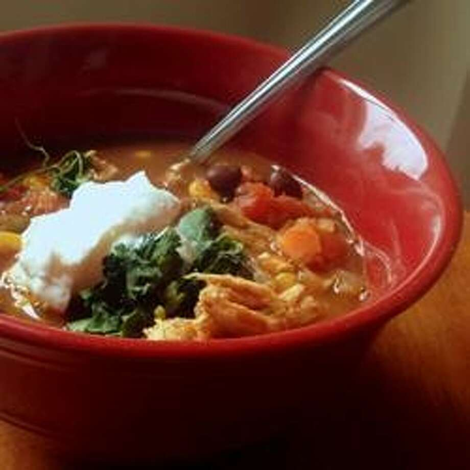 Healthier Chicken Taco Soup