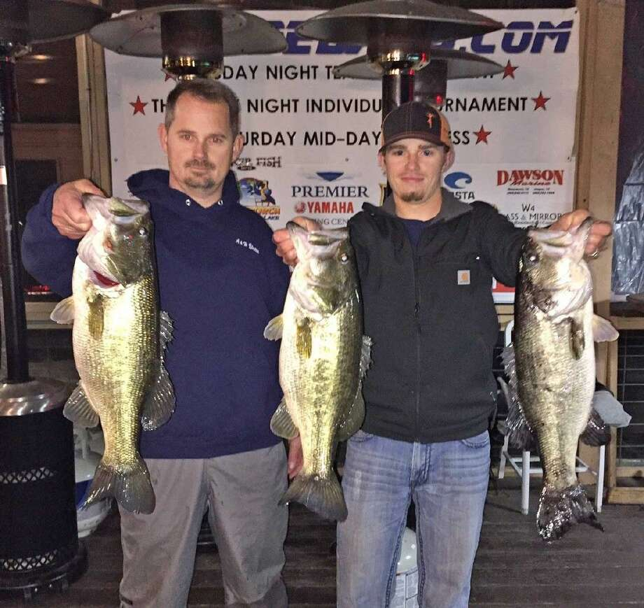 Henry and Nathan Perdue came in first place in the CONROEBASS Tuesday tournament with a total stringer weight of 17.05 pounds.