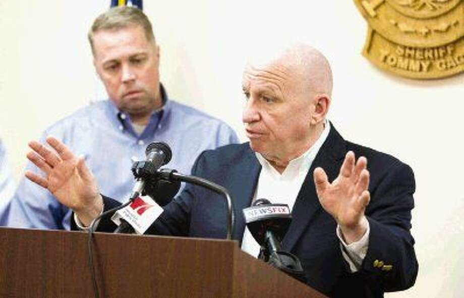 U.S. Rep. Kevin Brady, R-The Woodlands, talks to the media about Homeland Security funding during a press conference Thursday in Conroe. Funding for the department is set to expire Feb. 27 without action by Congress. Photo: Jason Fochtman