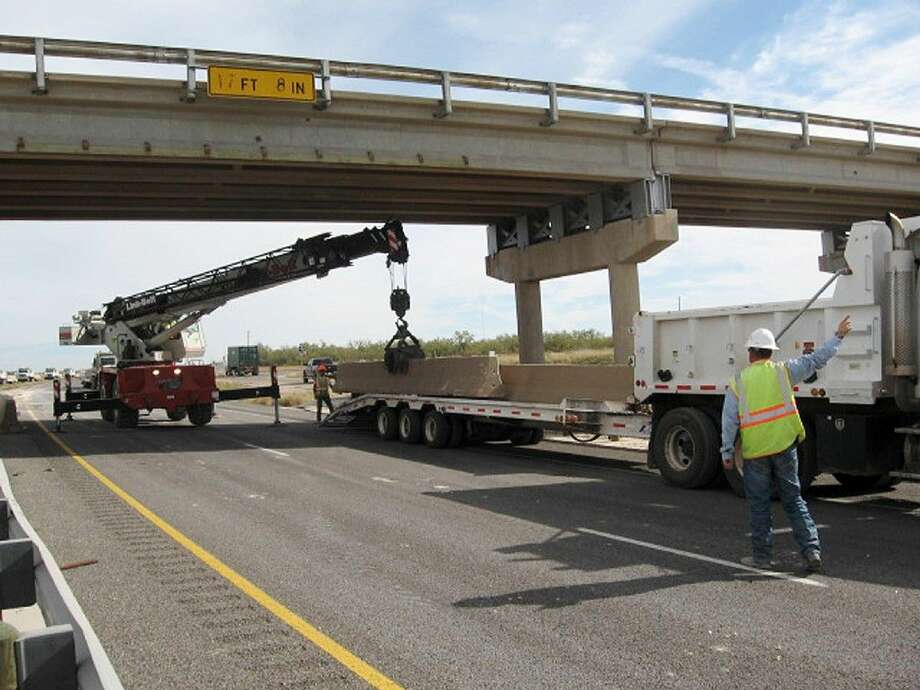 On Nov. 7, 2013, work continued in the area of a collapsed overpass on Interstate 20 near Big Springs. Photo: HOPD