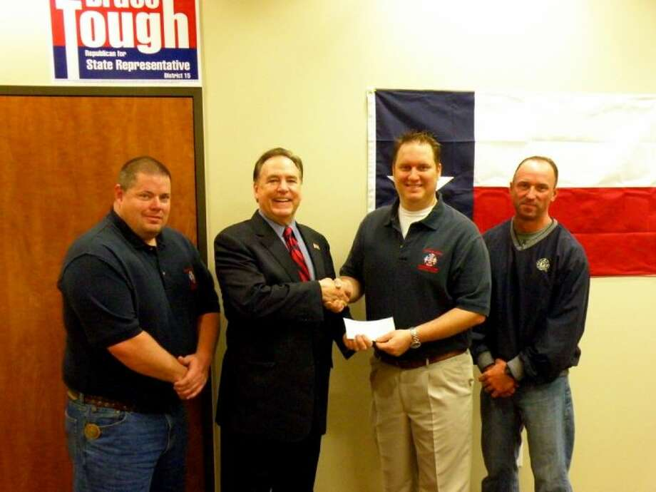 The Woodlands Professional Firefighters Association has endorsed Bruce Tough for District 15 state representative in the March 4 Republican primary election. Pictured, left to right, are Jon Mohr, Bruce Tough, Doug Adams and Erik Secrest.