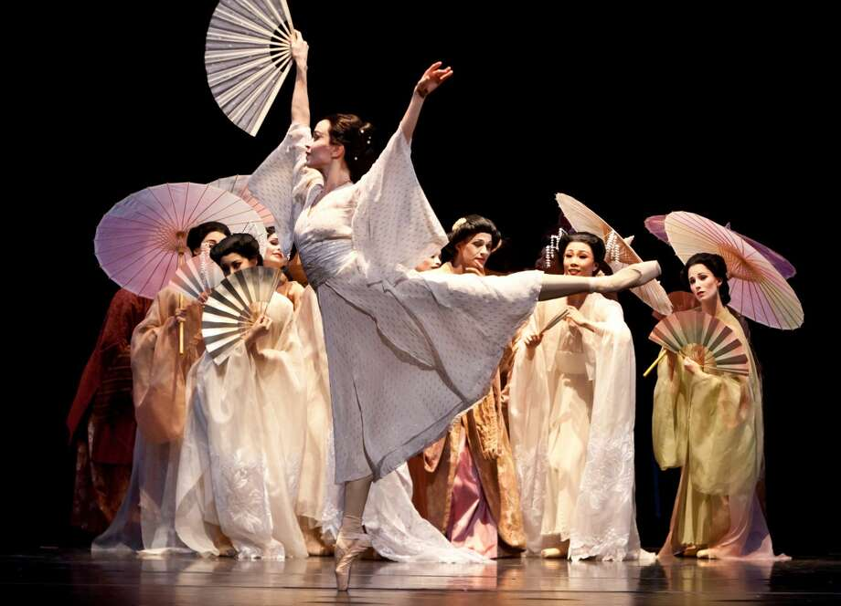 """Artists of the Houston Ballet perform """"Madame Butterfly"""" choreographed by Stanton Welch. """"Madame Butterfly"""" is on stage Sept. 22 through Oct. 2. Photo: Photo By Amitava Sarkar / Courtesy Of The Houston Ballet"""
