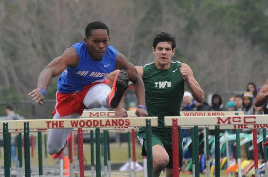 Oak Ridge's Patrick Prince is Montgomery County's top athlete in the 110-meter hurdles. Photo: Keith MacPherson