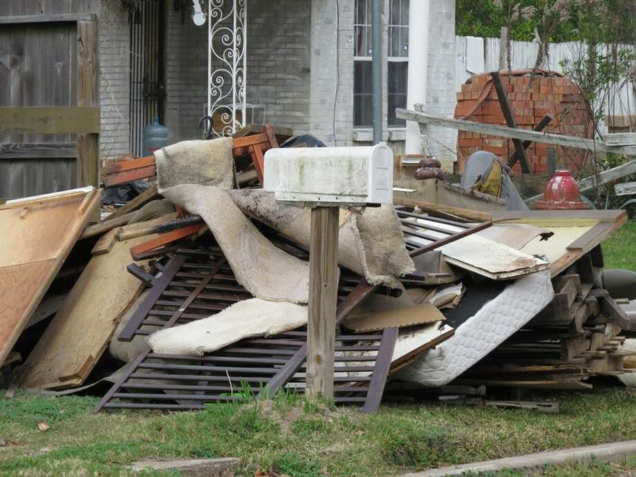 Residents in the clean-up area can put out large items to be thrown out free of charge.