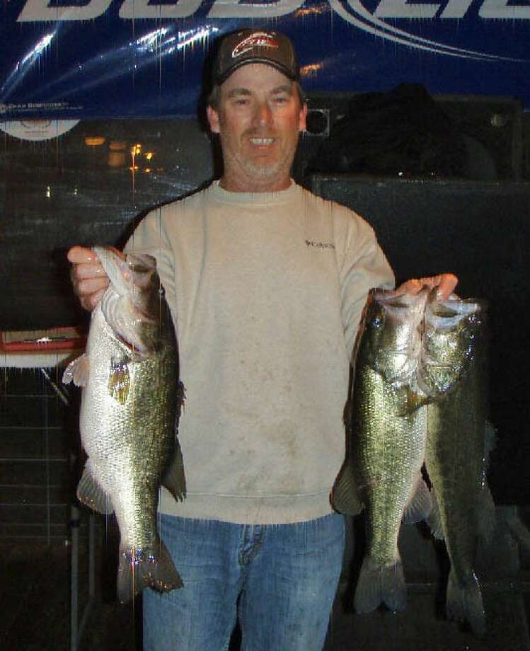 Mike Power, pictured, and Chris Russell won the Conroe Bass Tuesday Night Tournament on Feb. 18 with a total stringer weight of 13.89 pounds.