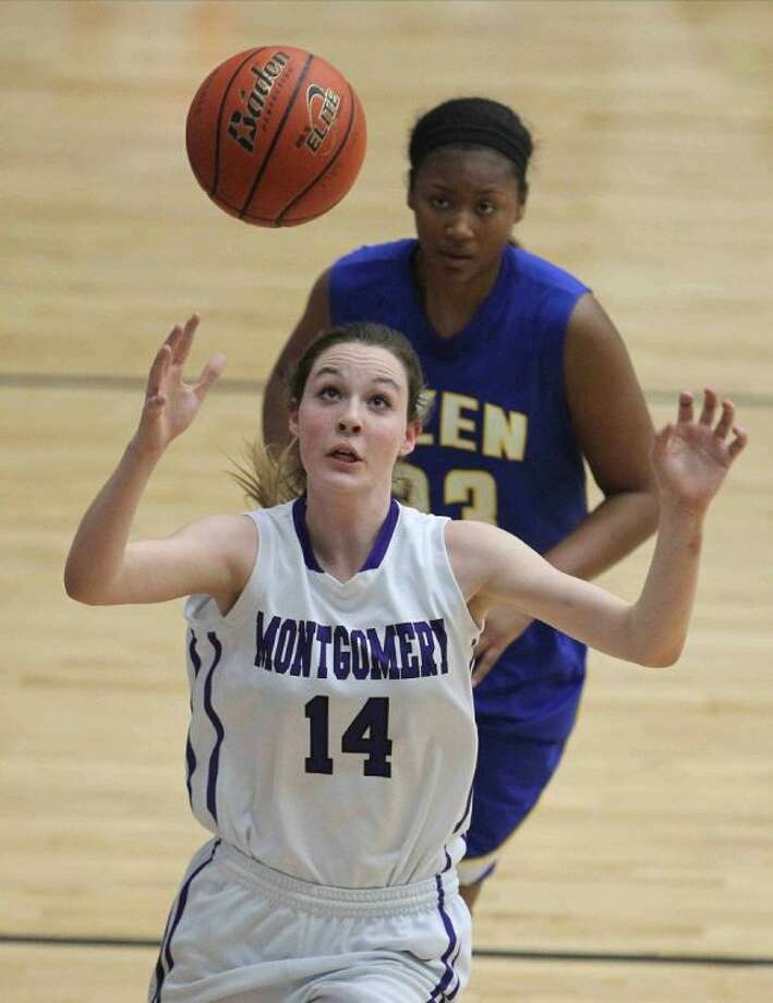 Montgomery sophomore Amy Donham is one of many Lady Bears who have loomed large this postseason. Photo: Jason Fochtman