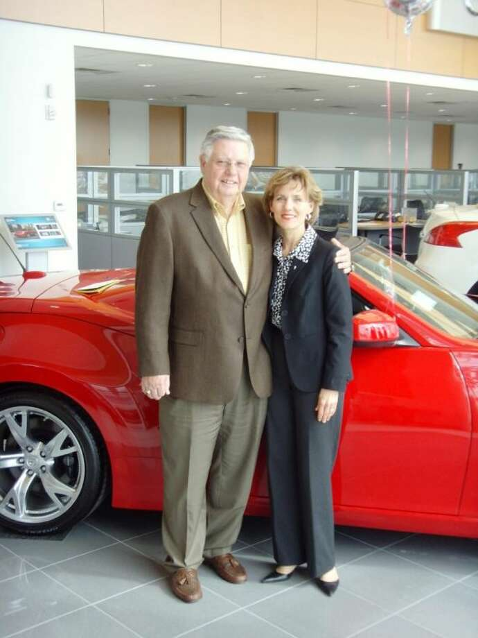 Jerry Streater and Susie Pokorski, chair of the Young Texas Artists Music Competition, at the showroom of Streater-Smith Honda Nissan. Streater-Smith Honda Nissan, Wiesner Buick GMC, Buckalew Chevrolet and the Gullo dealerships have joined forces to match all new and increased contributions, dollar for dollar, made to the Young Texas Artists Music Competition for 2014.