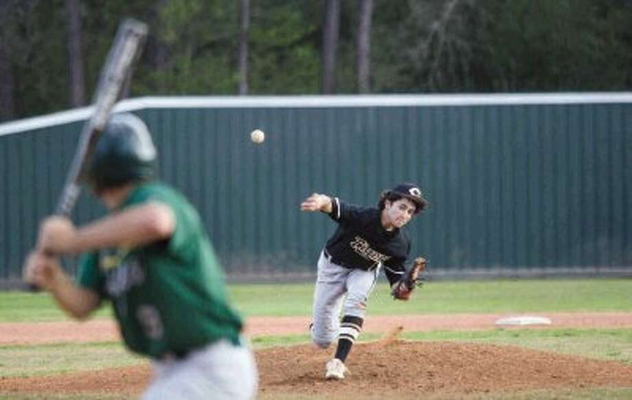 Conroe's Connor Ontiveros is one of the possible starting pitchers for the Tigers tonight against The Woodlands. Photo: Staff Photo By Ana Ramirez / The Conroe Courier