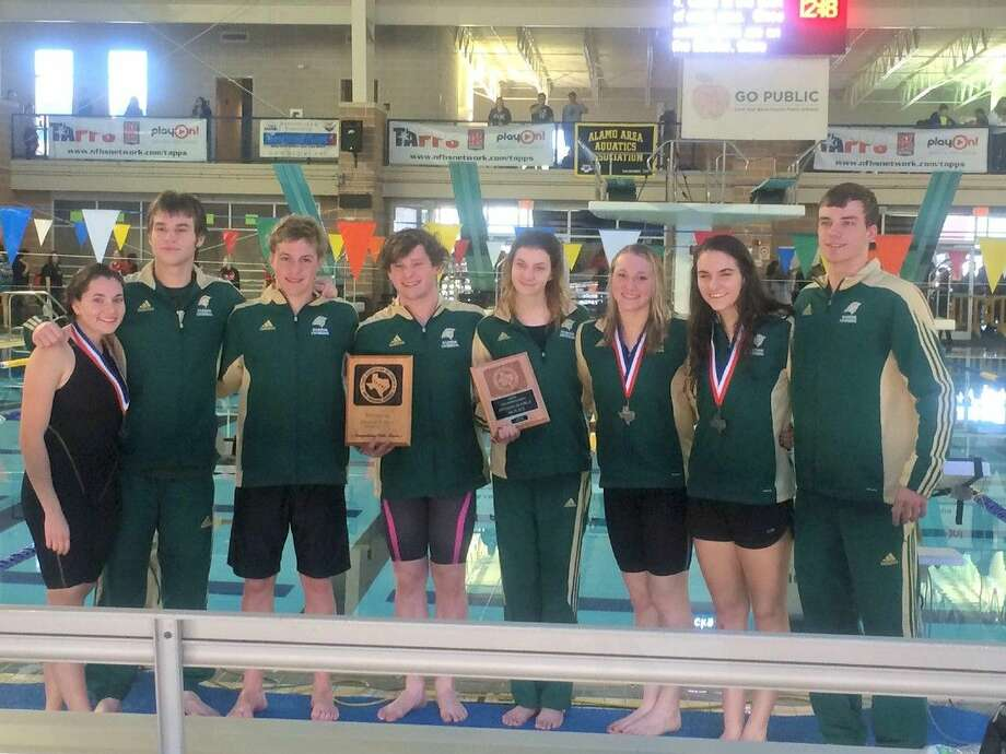 The Woodlands Christian Academy swimming team competed at the TAPPS Division III State Championships last Friday.