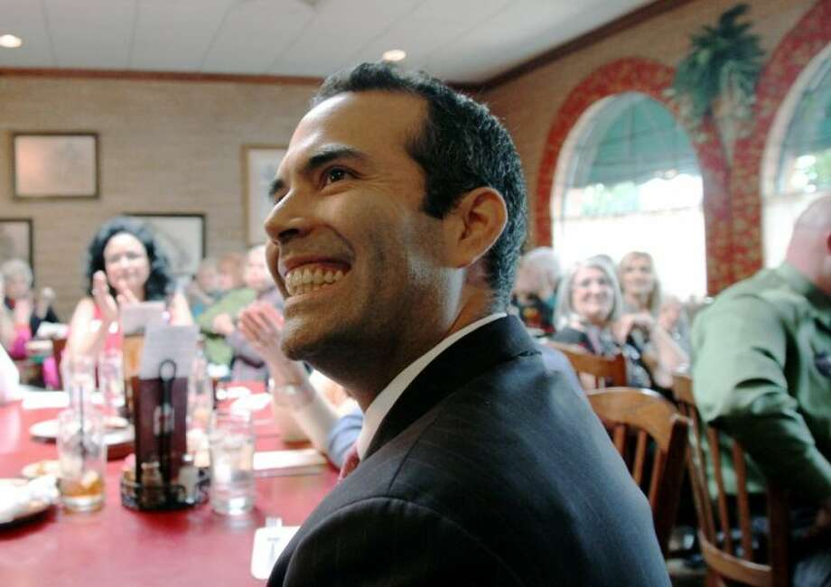 In this March 3 photo, George P. Bush makes a campaign stop at Julio´s Cafe Corona in El Paso. Even as Texas Republicans insist they've never been more committed to courting the state's booming Hispanic population, they can claim just one Hispanic candidate for statewide office, and he's a Bush.